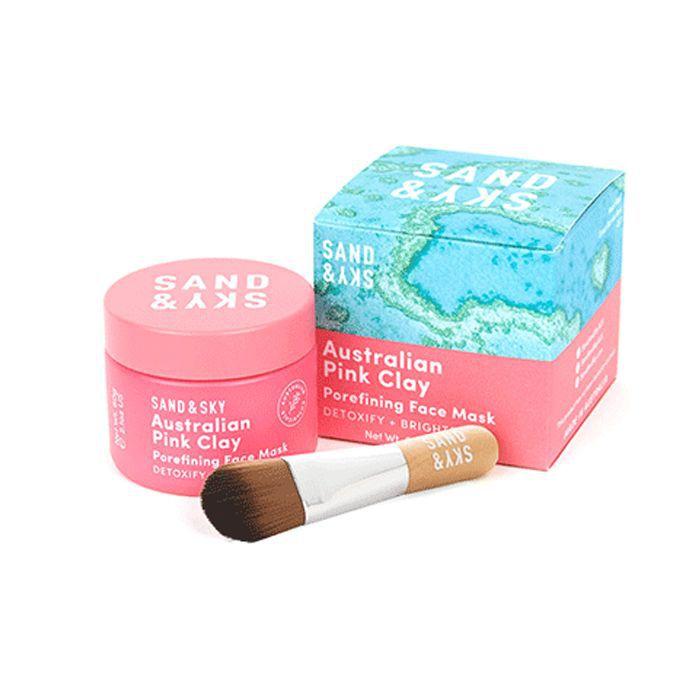 men's skincare: Sand + Sky Australian Pink Clay Porefining Clay Mask
