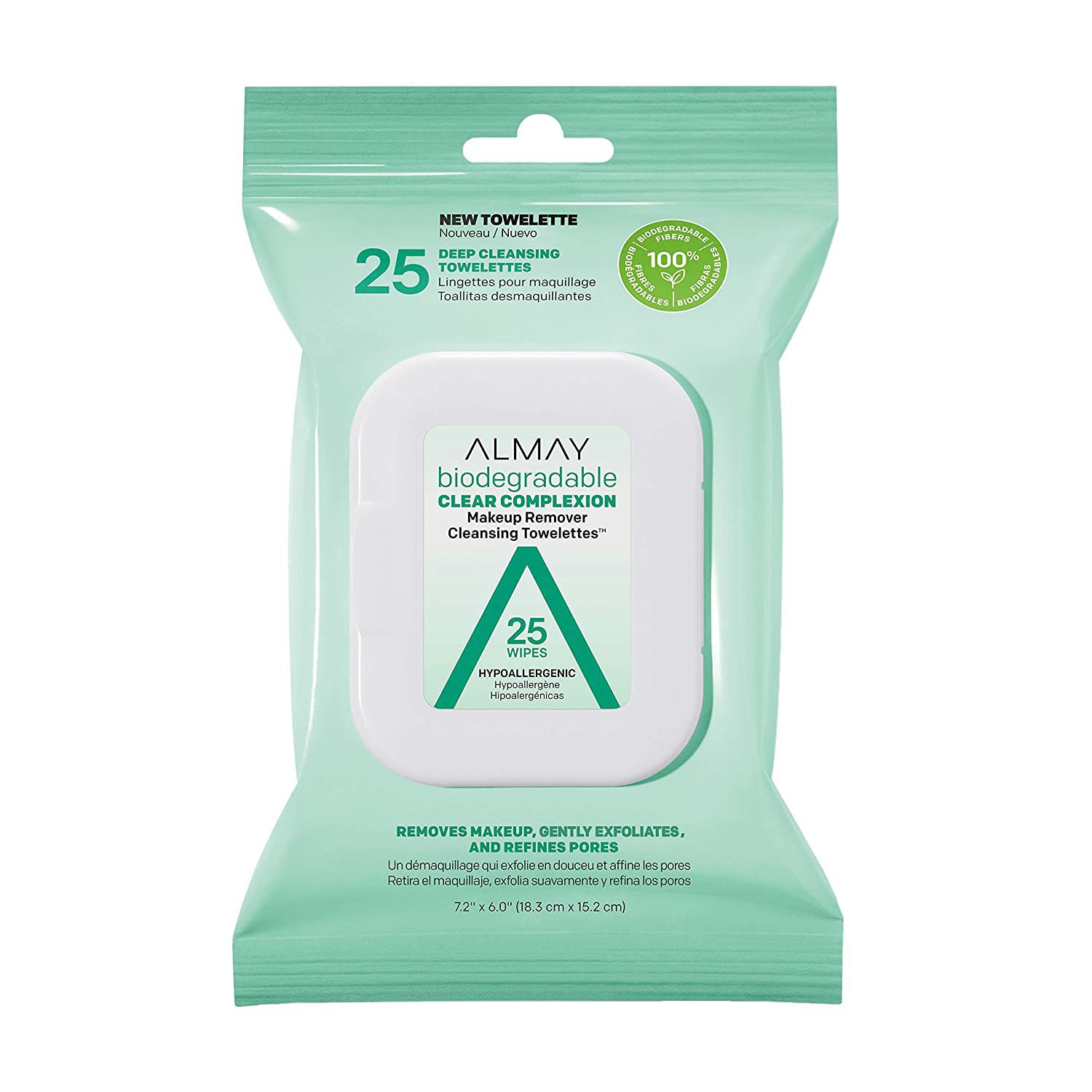 Almay Biodegradable Clear Complexion Makeup Remover Towelettes