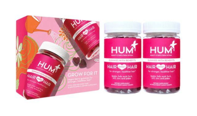Hum Hair Sweet Hair Vegan Gummies Supplement Duo
