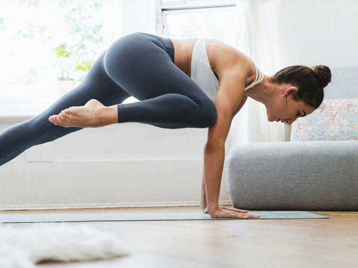 yoga for beginners: woman doing yoga