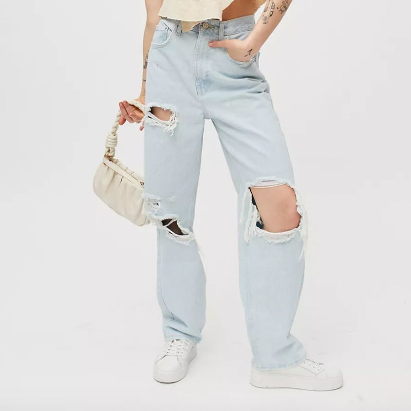 High-Waisted Baggy Jean – Super Light Wash