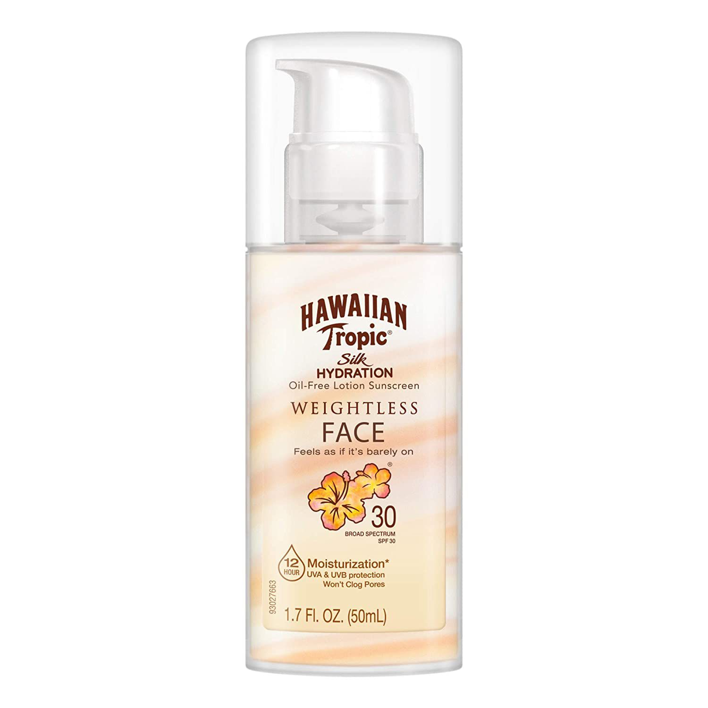 Hawaiian Tropic Silk Hydration Weightless Sunscreen Face Lotion