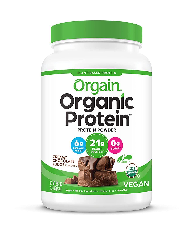 Orgain Organic Protein Plant Based Protein Powder Creamy Chocolate Fudge
