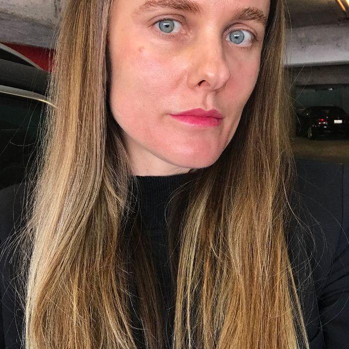 sacha strebe face close up