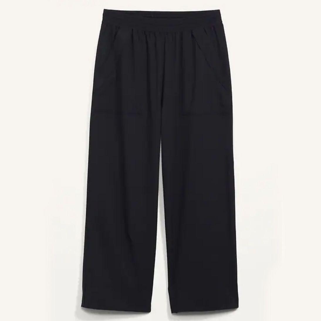 Old Navy High-Waisted StretchTech Wide-Leg Crop Pants
