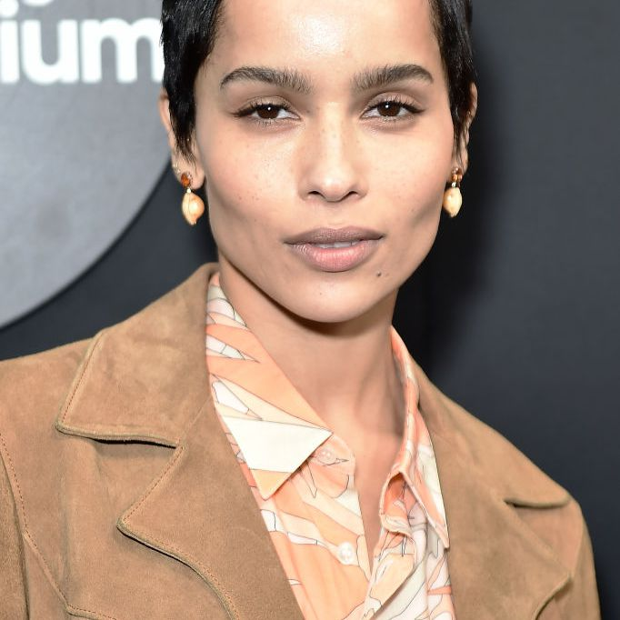 Zoe Kravitz pixie with barely-there bangs