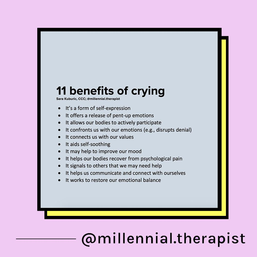 11 benefits of crying