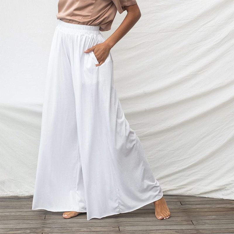Organic Pima Wide Leg Pant Tall