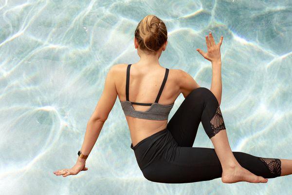Photo Composite of Woman doing Yoga Pose