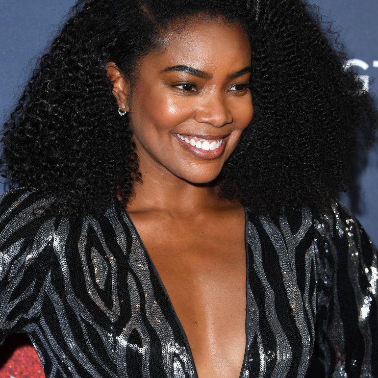 Gabrielle Union natural curly voluminous lob