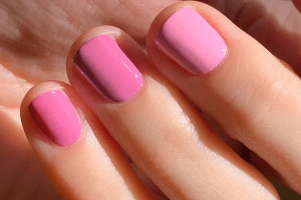 pink ombre mani