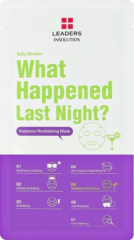 Daily Wonders What Happened Last Night Revitalizing Sheet Mask