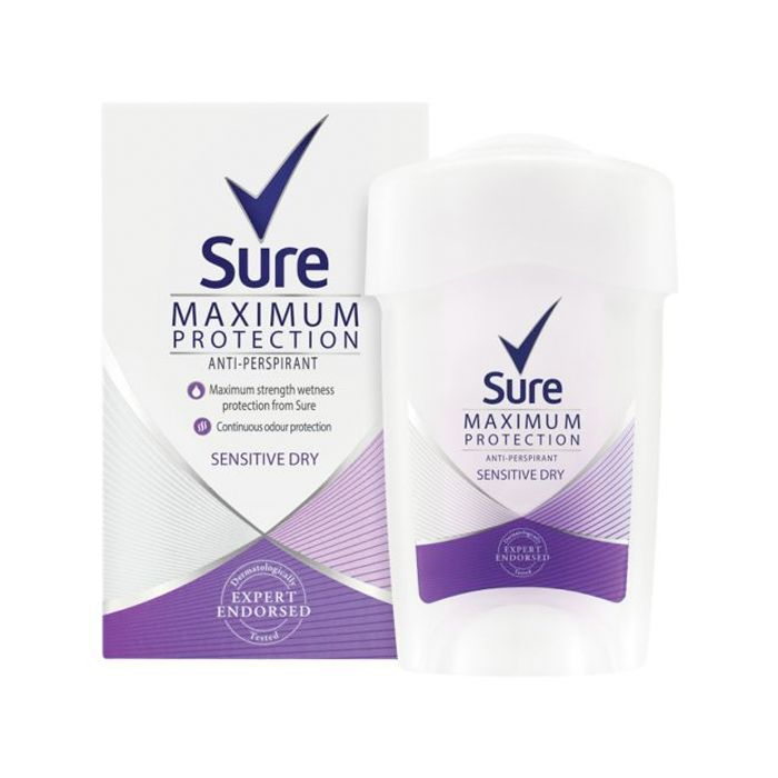 best drugstore beauty products: Sure Maximum Protection Anti-Perspirant Cream Stick