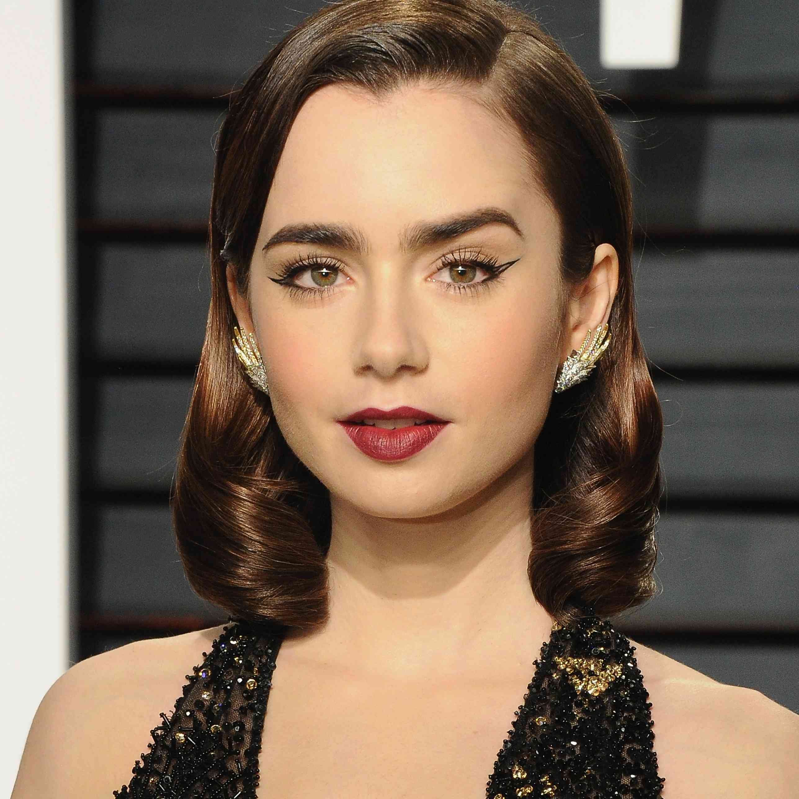Lily Collins Prom Hairstyles
