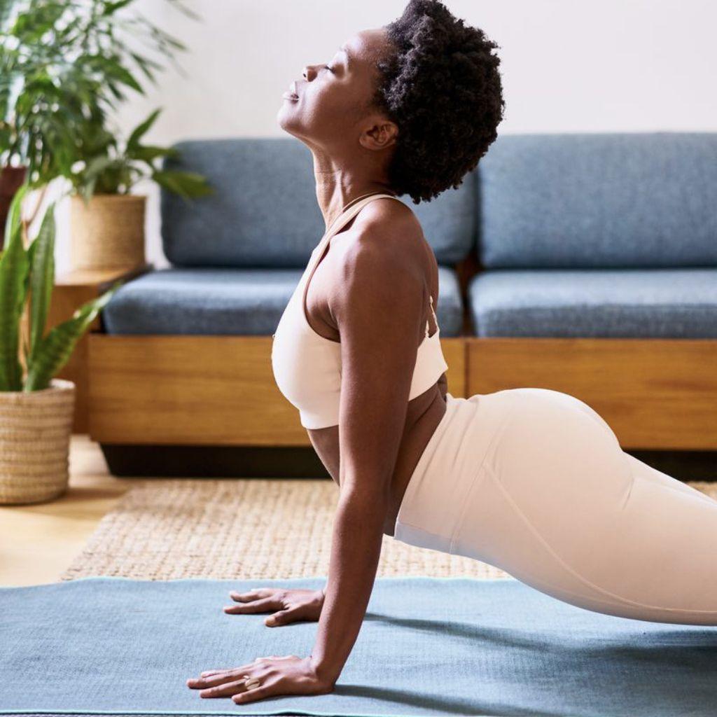 Hatha yoga woman