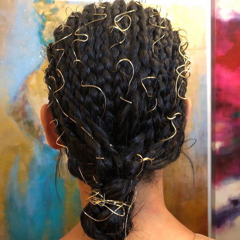 Cornrow Hairstyles Gold Wires Bianca Lawson