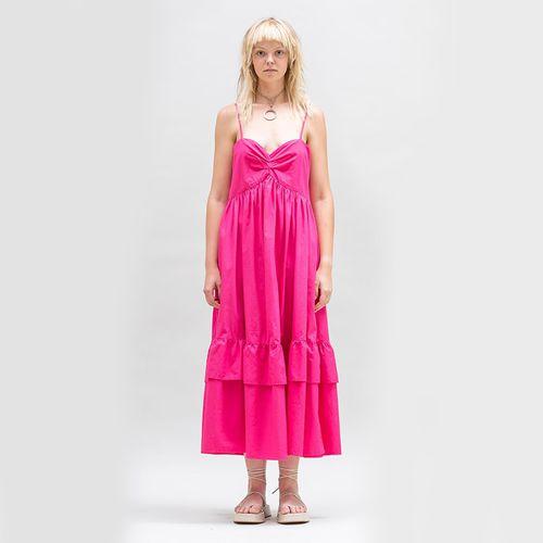 Bandeau Tier Ruffle Dress ($235)