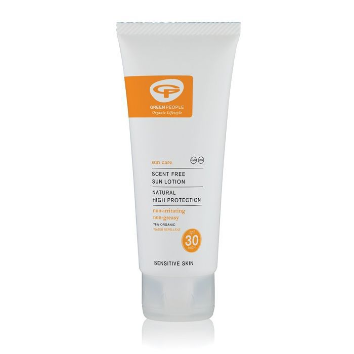 best drugstore sunscreen: Green People Scent Free Sun Lotion SPF 30