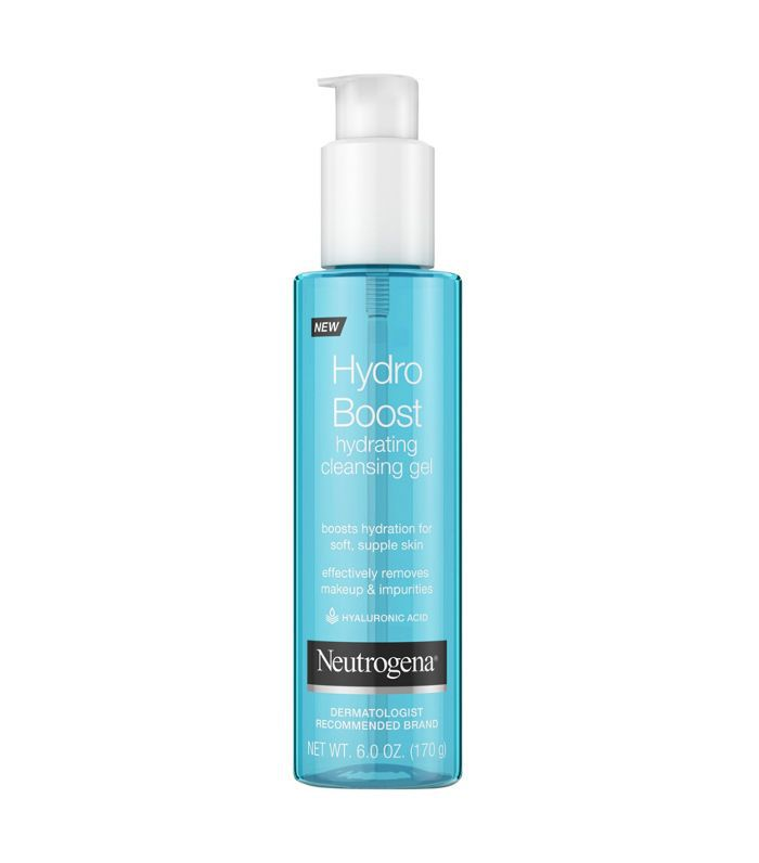 A pump bottle of Neutrogena Hydro Boost Hydrating Cleansing Gel for anti-aging at Target.