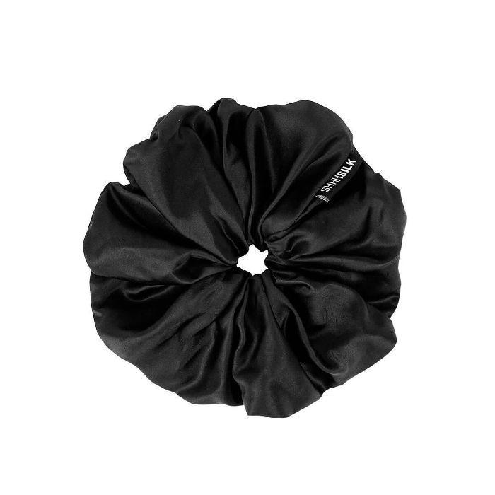 Shhh Silk Oversized Black Silk Scrunchie