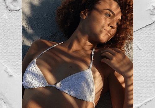 Model in sun