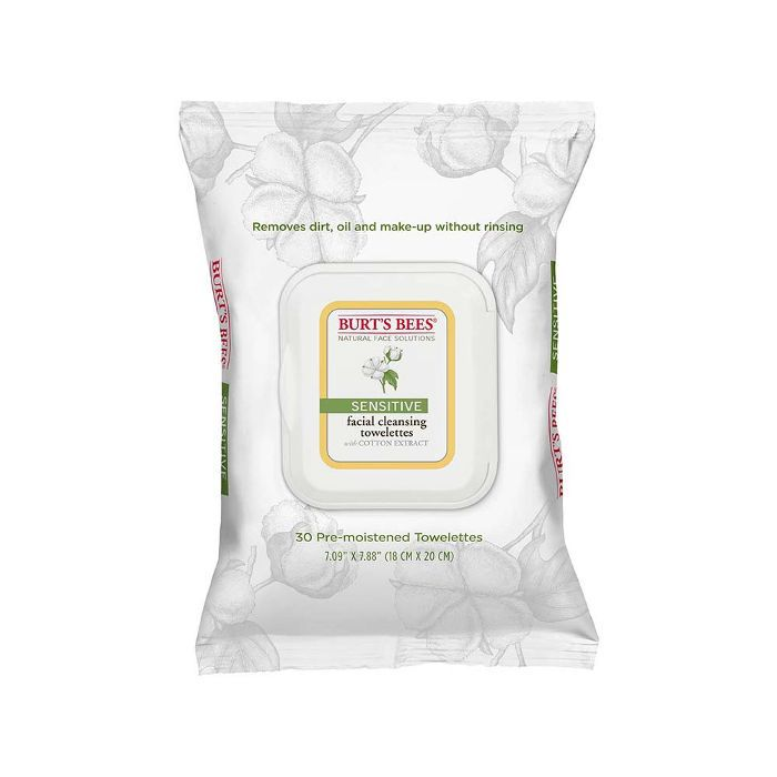 Cotton Extract Sensitive Facial Cleansing Towelettes