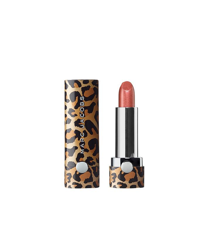 Marc Jacobs Le Marc Leopard Frost Lip Crème Lipstick in Just Peachy 504
