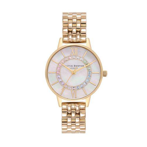Rainbow Sparkle Wanderland Bracelet Watch ($160)