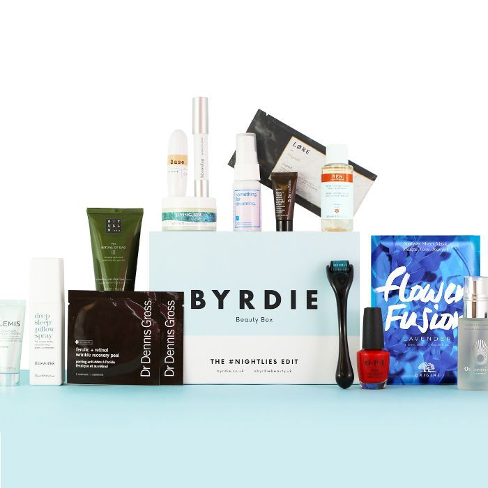 Byrdie Beauty Box The #Nightlies Edit: The contents of the beauty box