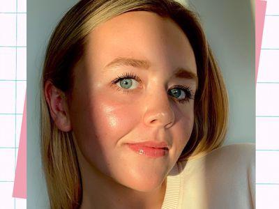 woman wearing soft girl makeup