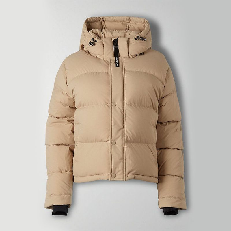 Cropped Goose-Down Puffer Jacket