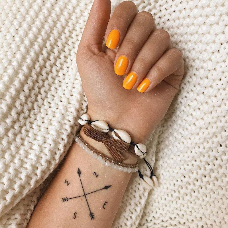 Compass Tattoo Inspiration Minimalist