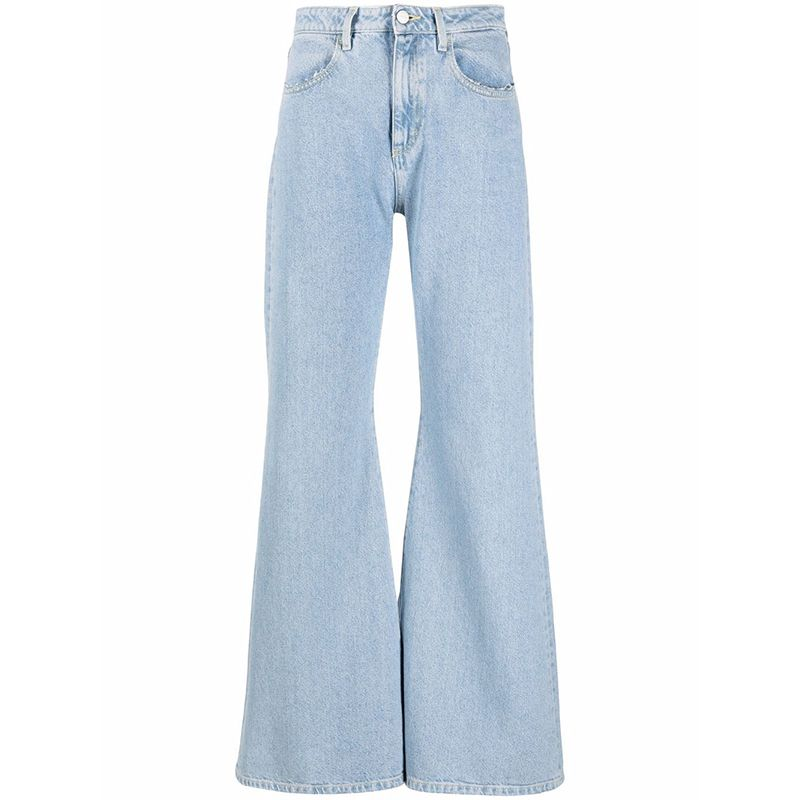 High-Rise Flared-Leg Jeans