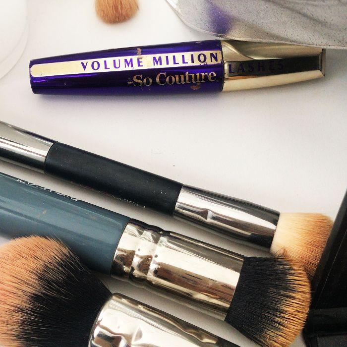 Mascara and makeup brushes