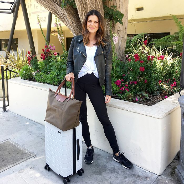 Travel Editor Sophie Miura in her travel outfit