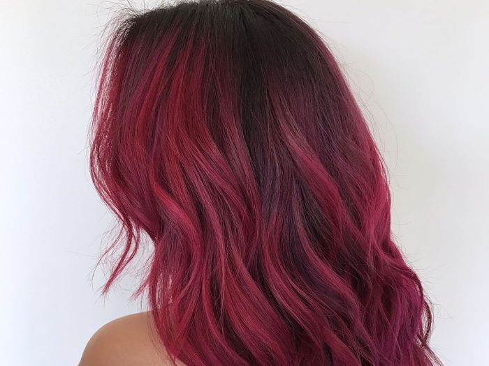 Red Ombre Hair Short Lajoshrich Com