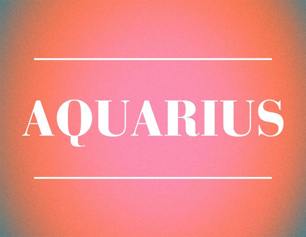 aquarius zodiac sign design