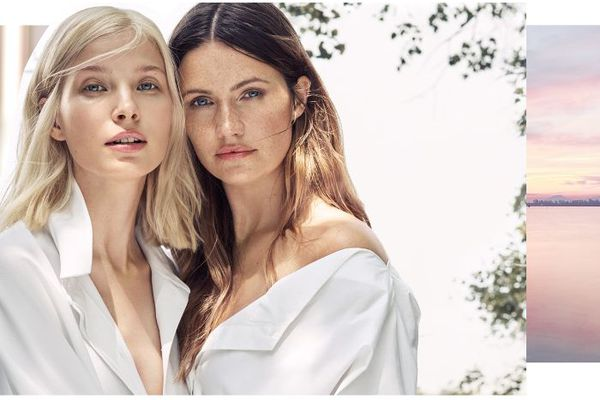 Women wearing Lumene products