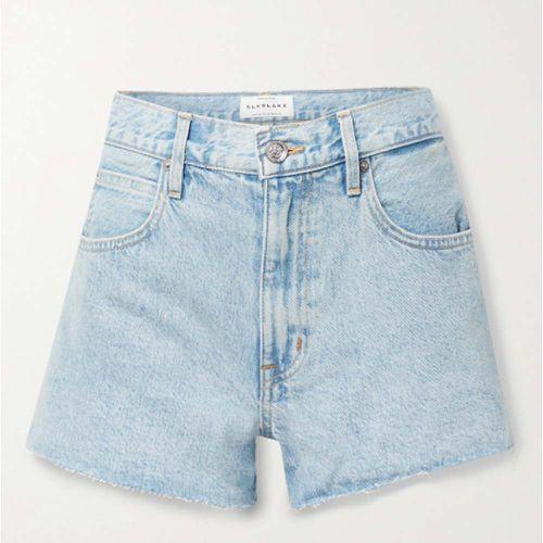 Farrah Frayed Organic Denim Shorts ($240)