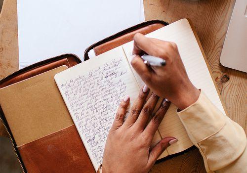 black femme journaling