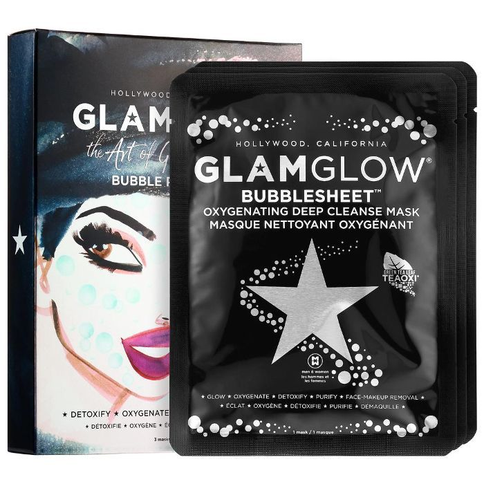 GLAMGLOW The Art of Glowing Skin Bubble Party Set 3 masks