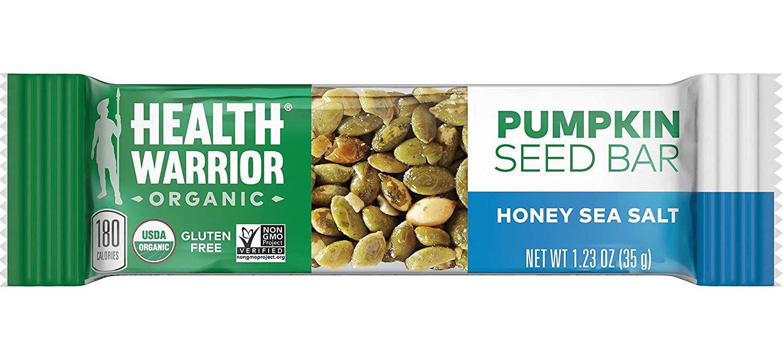 Health Warrior Honey Sea Salt Pumpkin Seed Bar