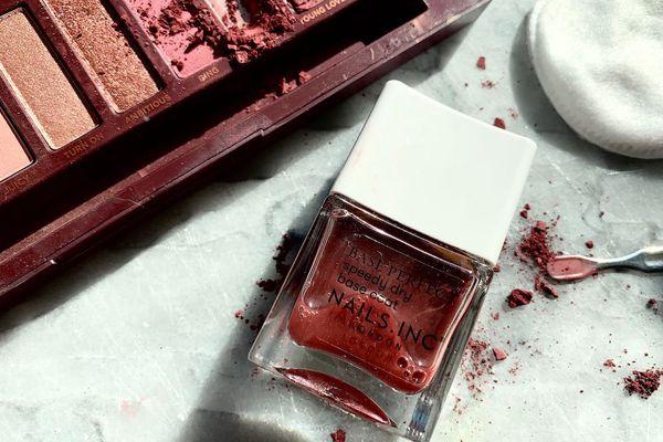 diy nail polish flatlay