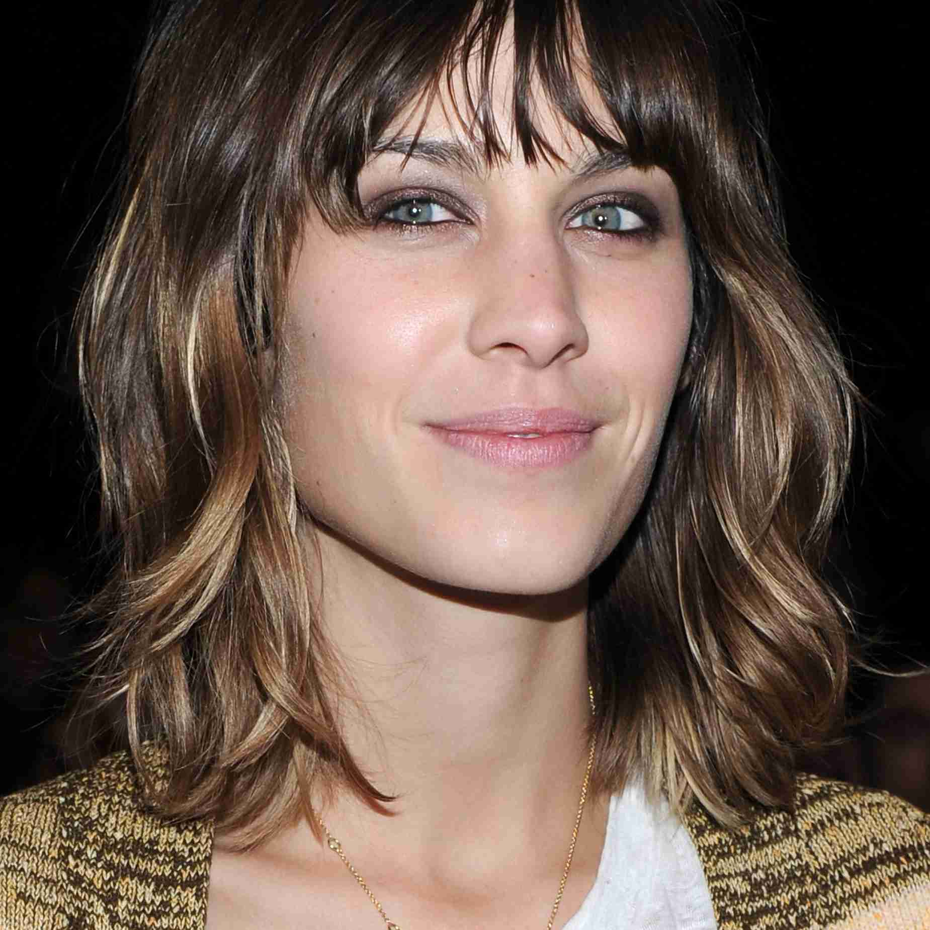 Alexa Chung with bangs. Jason Kempin//Getty