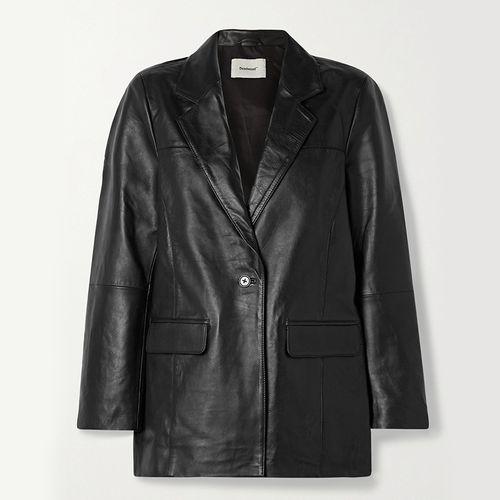 Brooke Leather Blazer ($350)