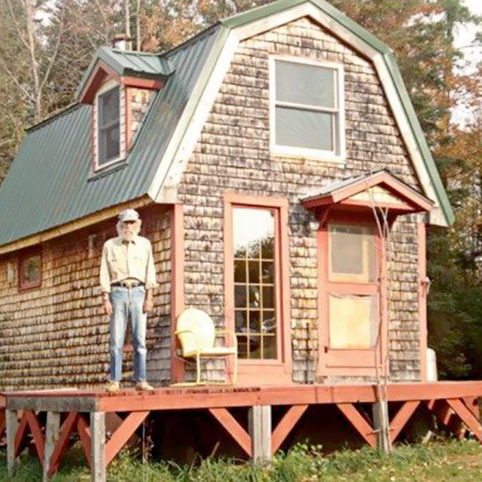 Burt's Bees found Burt Shavitz standing in front of his home
