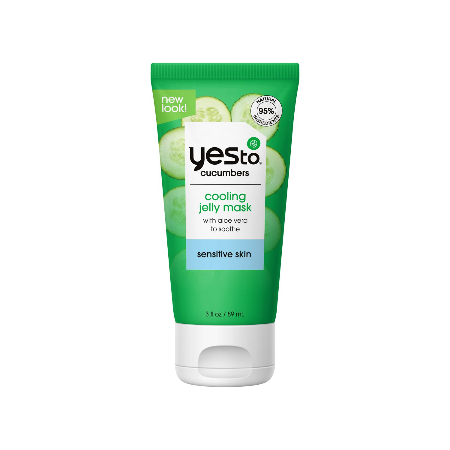 Yes to Cucumbers Cooling Jelly Face Mask for Sensitive Skin