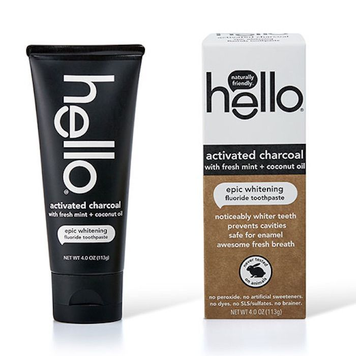 Hello Activated Charcoal Toothpaste With Fluoride