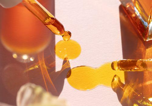 drops of rose hip oil