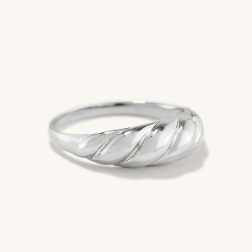 Thin Croissant Dôme Ring in 14K White Gold ($345)